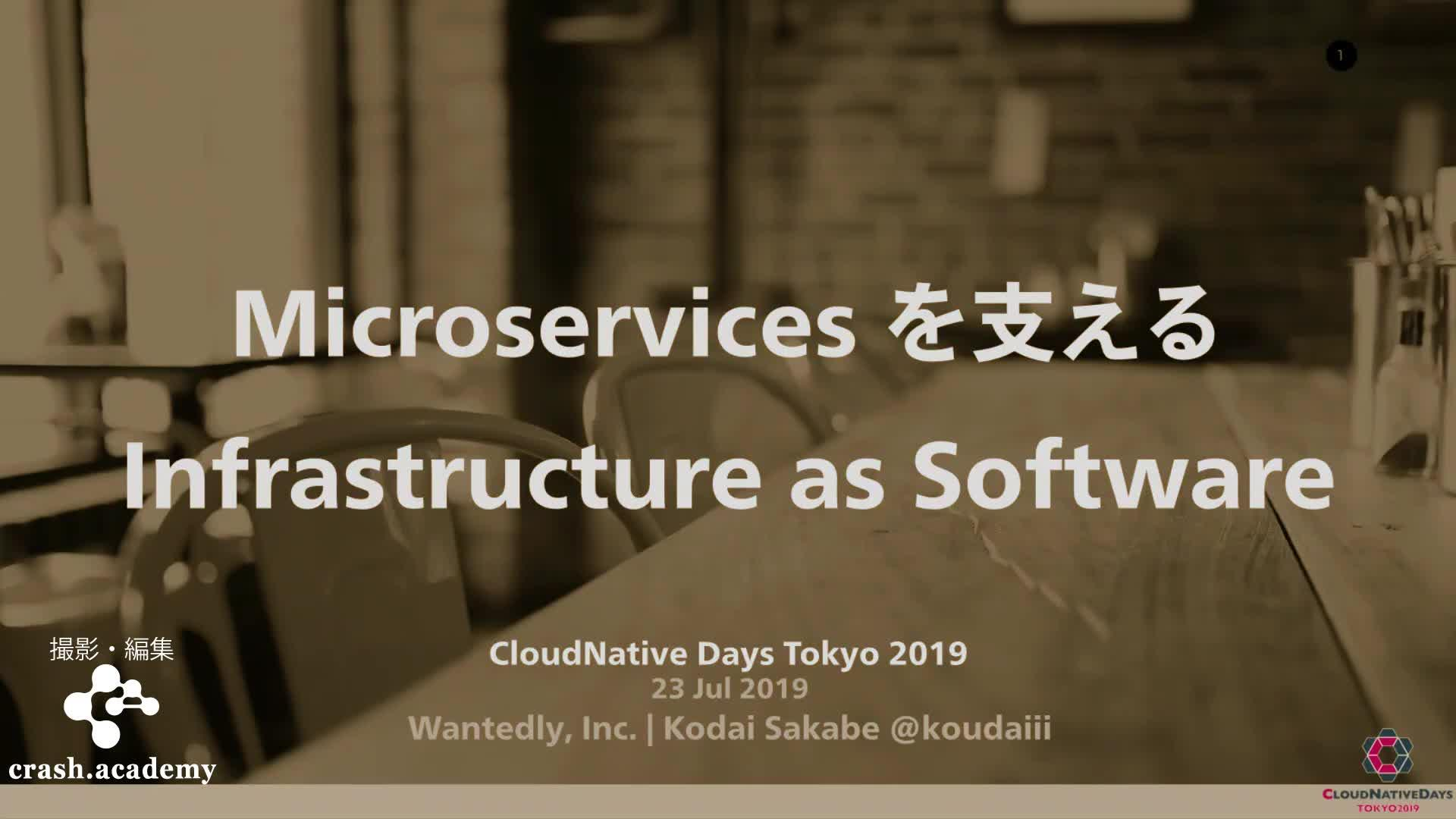 Microservices を支える Infrastructure as Software