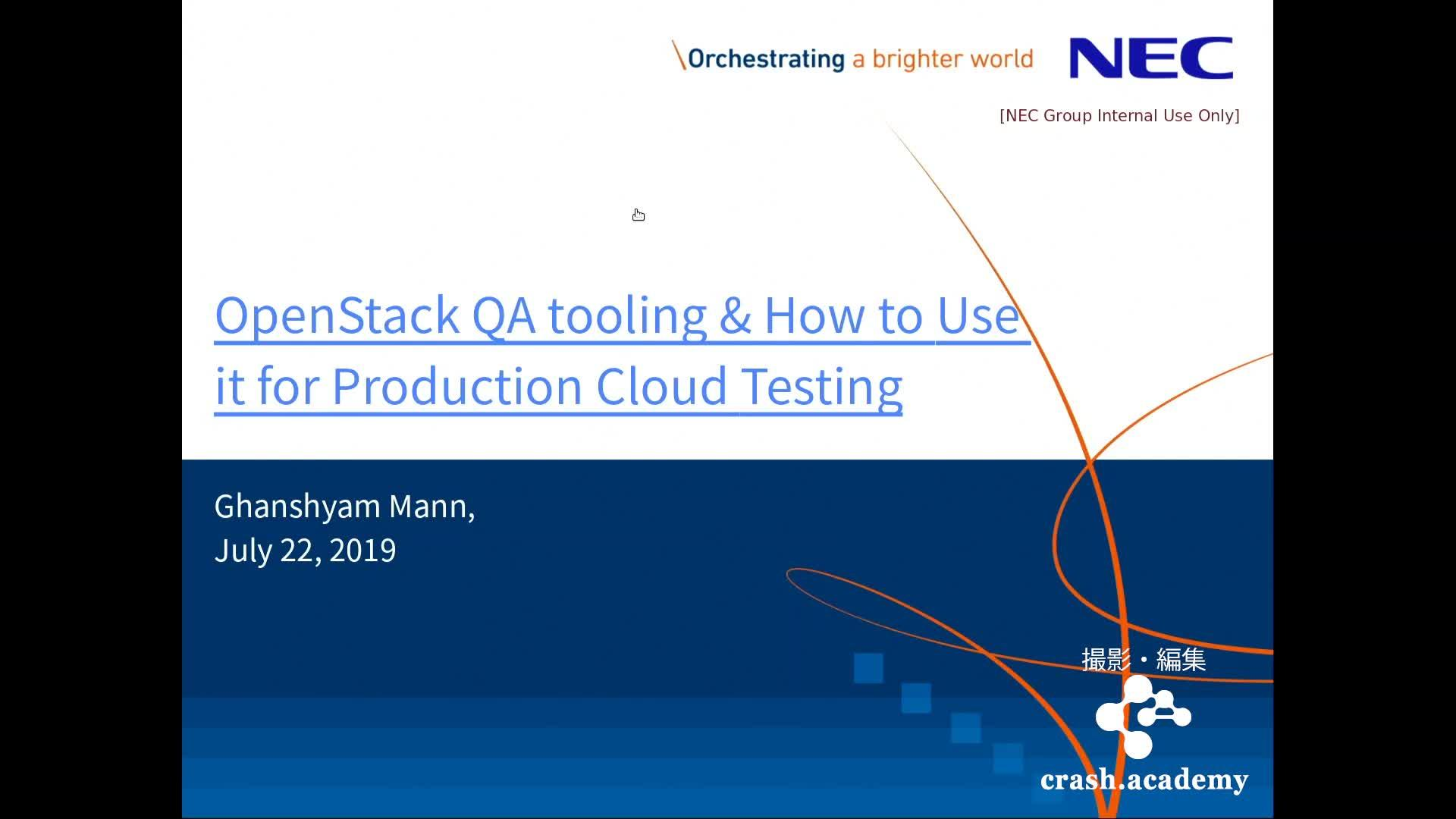 OpenStack QA tooling & How to use it for Production Cloud testing