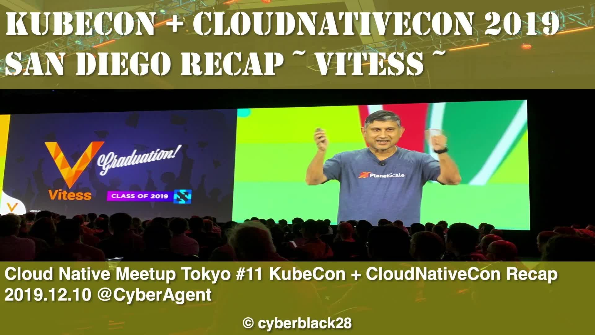 Recap: All of Vitess at KubeCon NA 2019