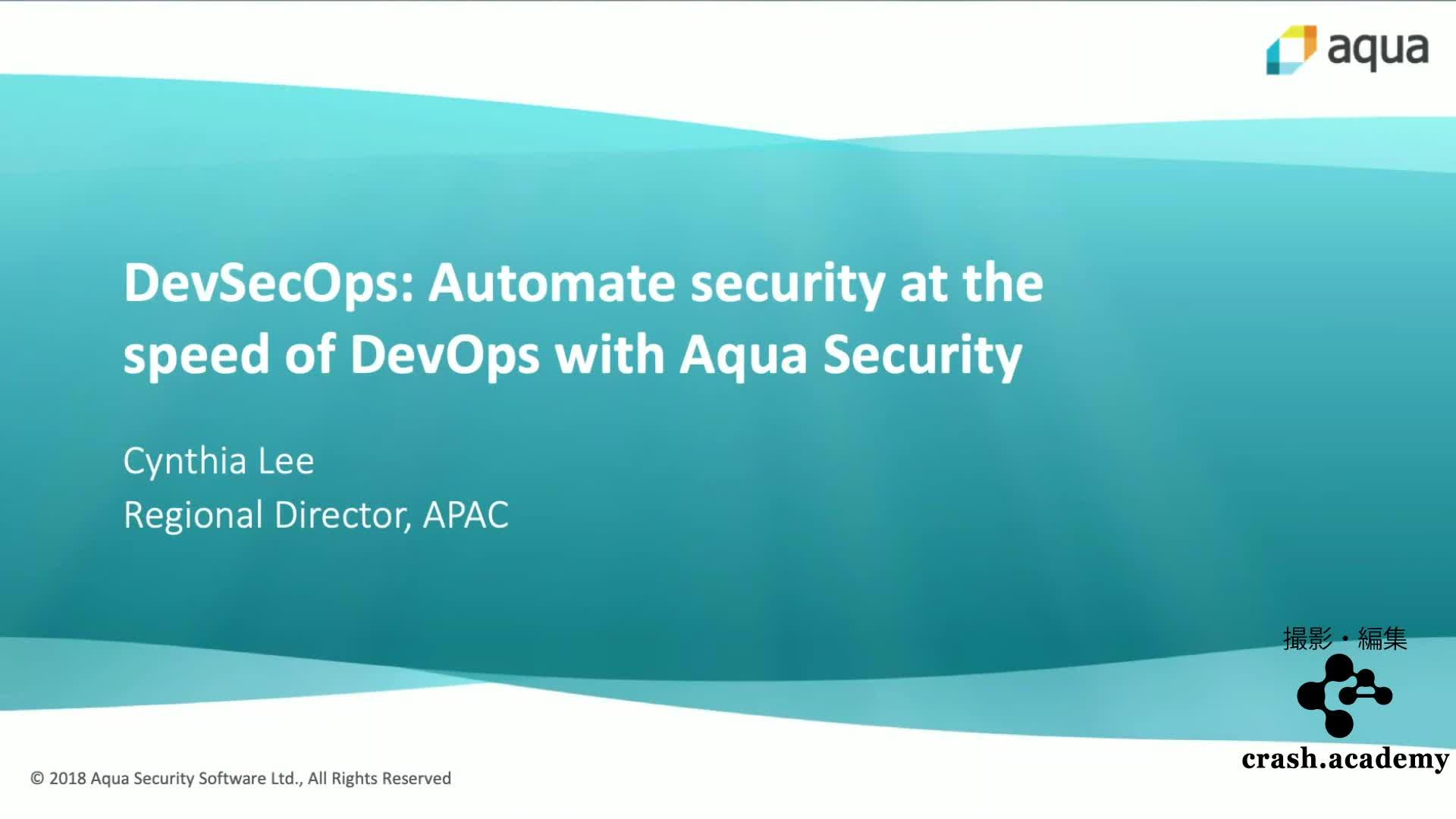 DevSecOps:Automate security at the speed of DevOps with Aqua Security