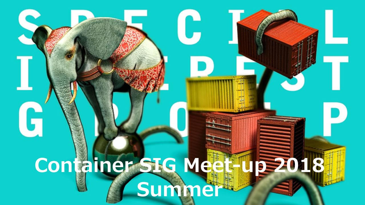 Container SIG Meet-up 2018 Summer