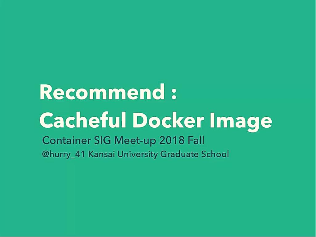 Cacheful Docker Image