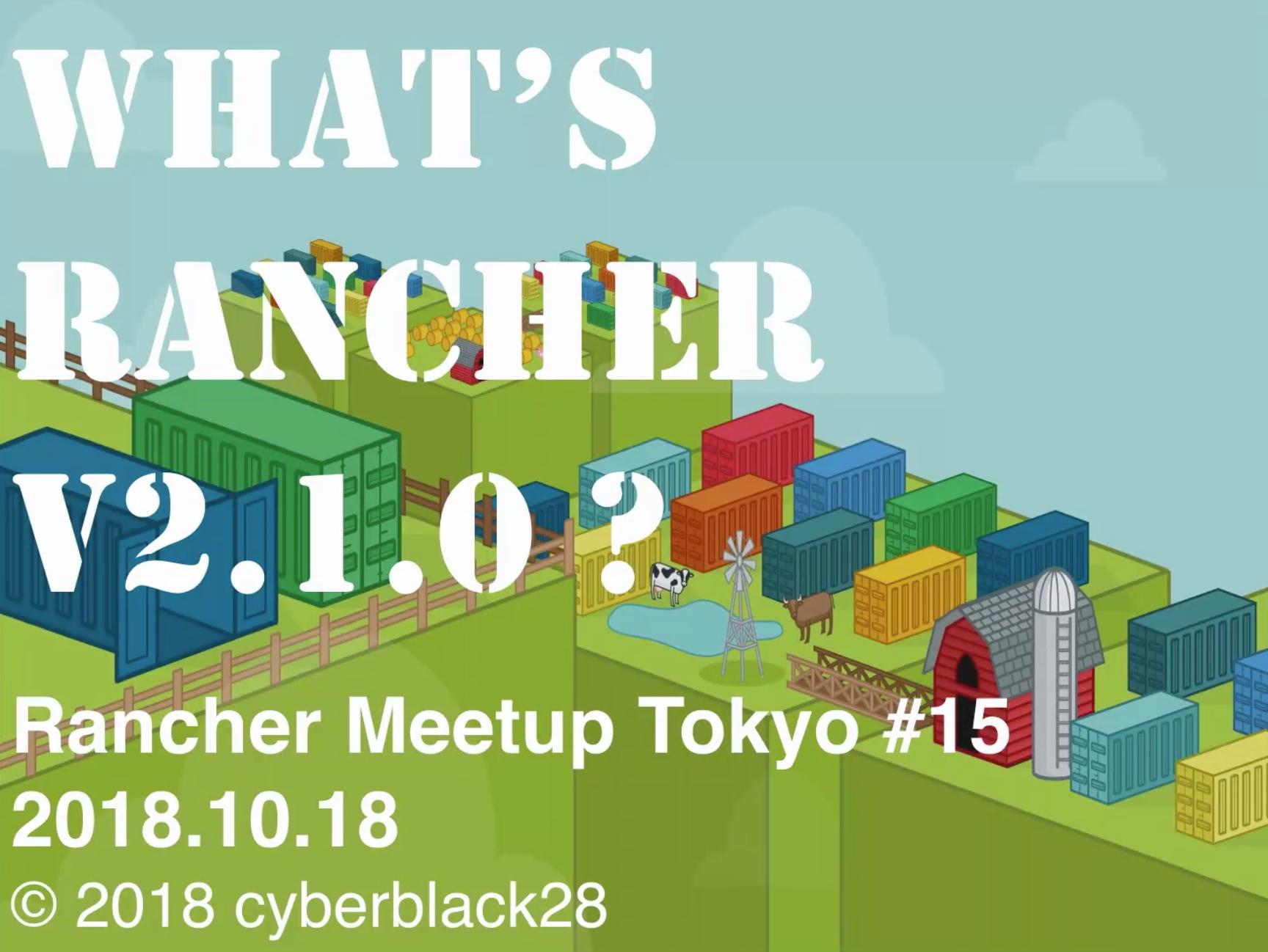What's Rancher v2.1.0