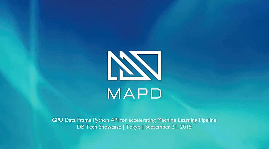 GPU Data Frame Python API for accelerating Machine Learning Pipeline