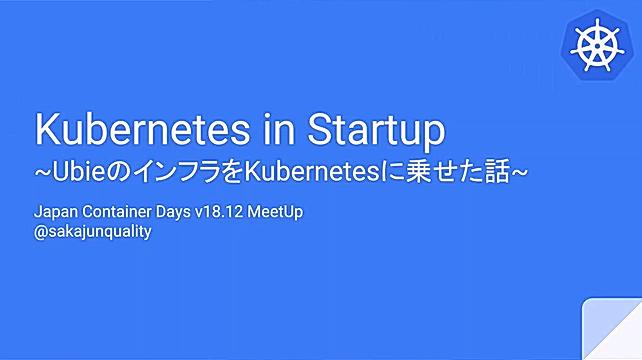 Kubernetes in Startup