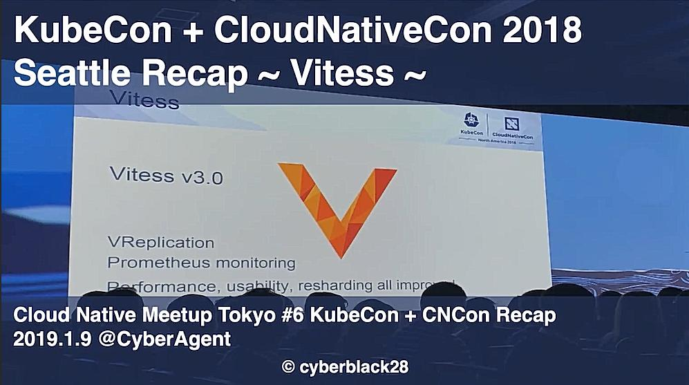 KubeCon + CloudNativeCon 2018 NA Recap 〜Vitess〜