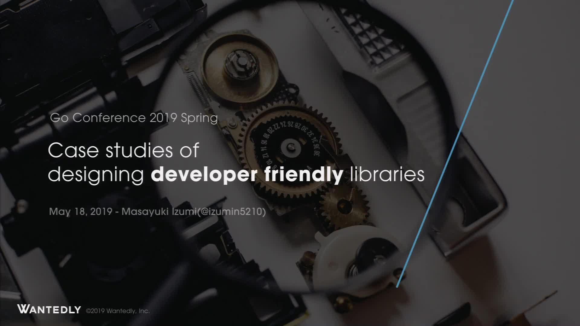 Case studies of designing developer friendly libraries