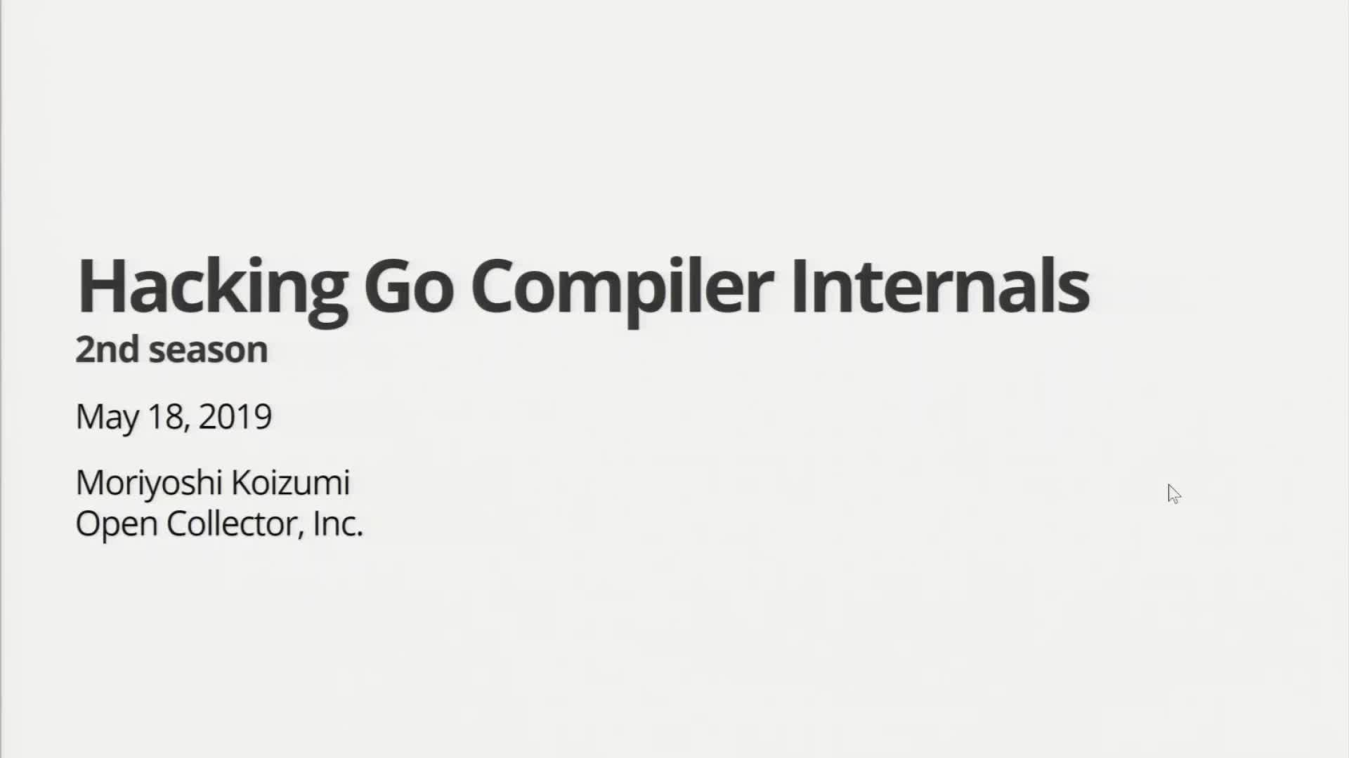 Hacking Go Compiler Internals 2nd season