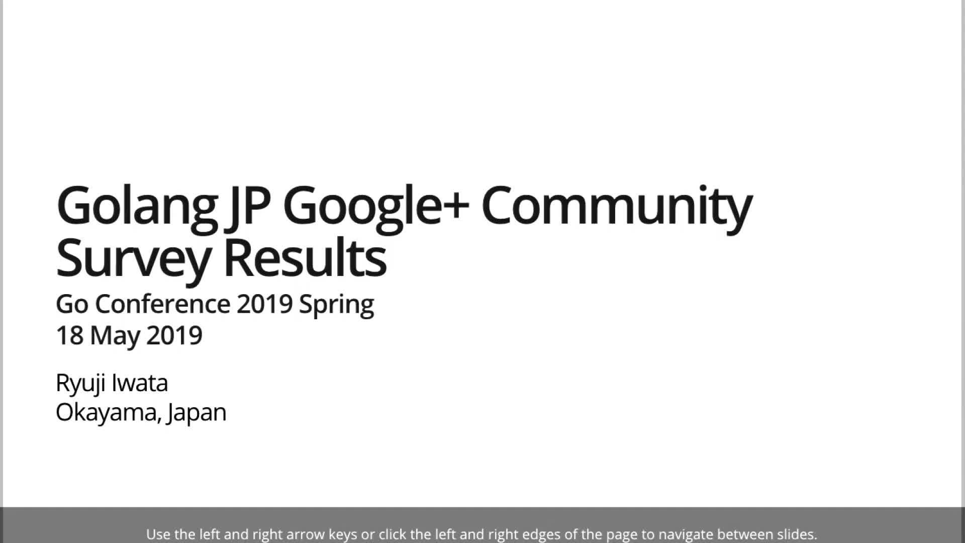 GolangJP Google+ Community Survey Results
