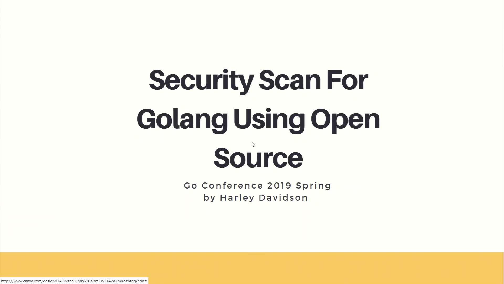 Security Scan For Golang Using Open Source