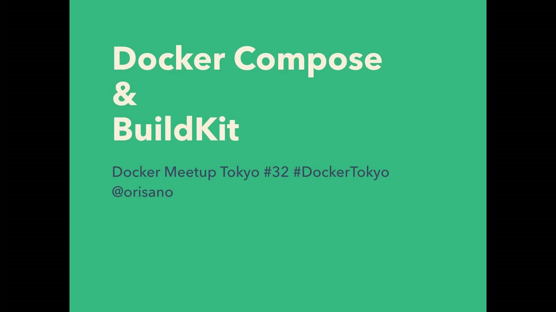 Docker Compose & BuildKit