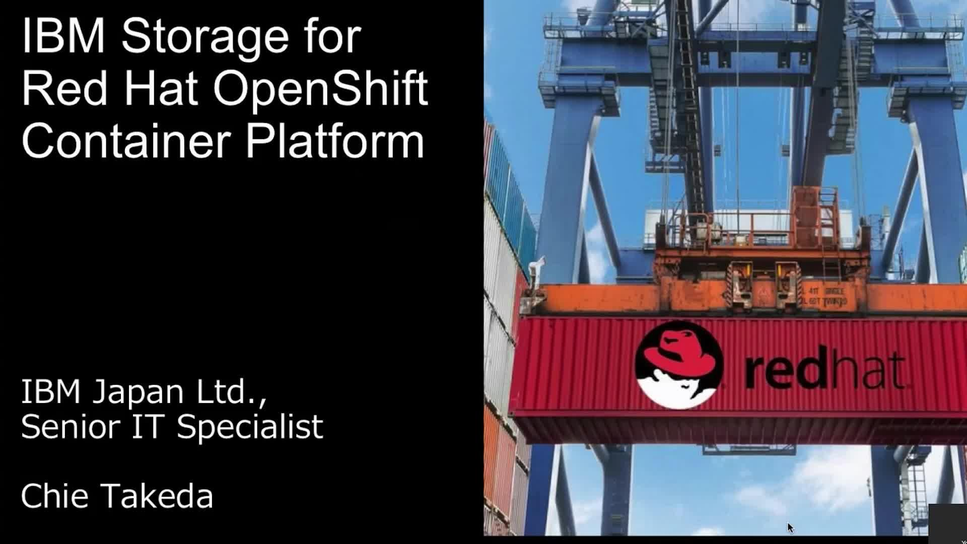 IBM Storage for Red Hat OpenShift Container Platform
